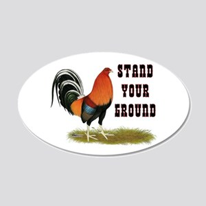 Stand Your Ground Rooster 20x12 Oval Wall Decal