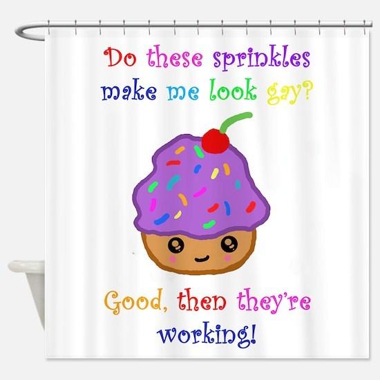 Gay Sprinkles Shower Curtain