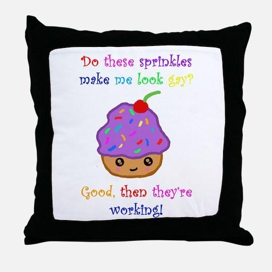 Gay Sprinkles Throw Pillow