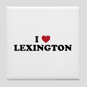 I Love Lexington Kentucky Tile Coaster