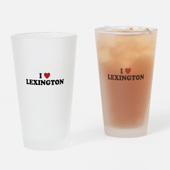 I Love Lexington Kentucky Drinking Glass
