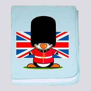 British Soldier Penguin baby blanket
