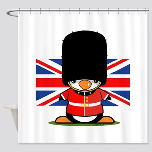 British Soldier Penguin Shower Curtain
