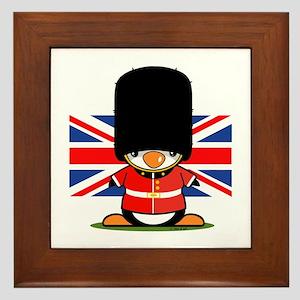 British Soldier Penguin Framed Tile