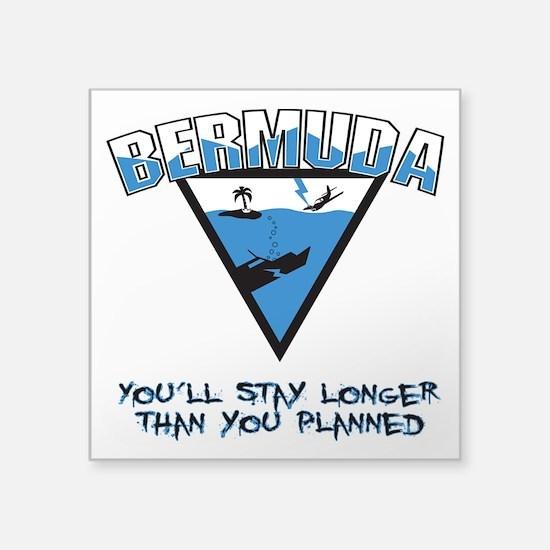 """Bermuda Triangle Square Sticker 3"""" x 3"""""""