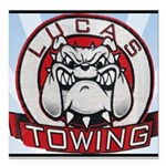 Lucas Towing Logo NEW Square Car Magnet 3
