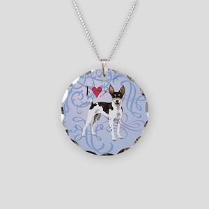 Rat Terrier Necklace Circle Charm