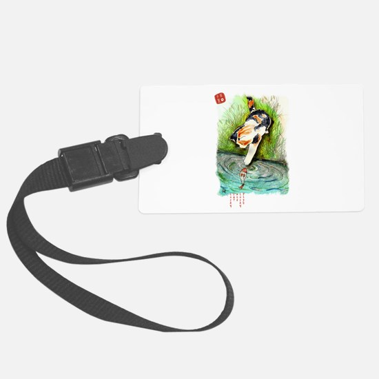 Lucky Cat and Lucky Fish.jpg Luggage Tag