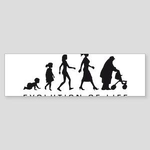 Evolution Life woman B Sticker (Bumper)