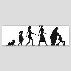 Evolution Life woman Sticker (Bumper)
