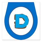 Democrat Doo Doo Economics Square Car Magnet 3&quo