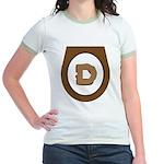 Brown Democrat Doo Doo Economics Jr. Ringer T-Shir