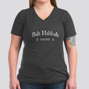 Bah Hahbah Women's V-Neck Dark T-Shirt