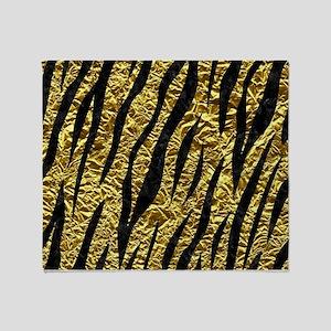 SKIN3 BLACK MARBLE & GOLD FOIL (R) Throw Blanket
