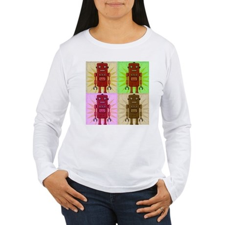 VINTAGE ROBOTS Women's Long Sleeve T-Shirt