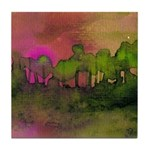 The Woods II Magenta Tile Coaster