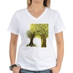 Marina's Fortune Tree Women's V-Neck T-Shirt