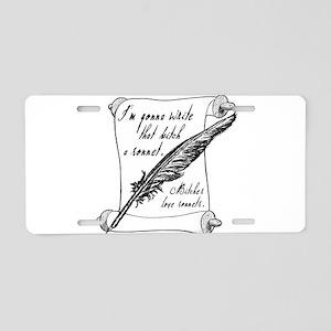 Bitch Sonnet Aluminum License Plate