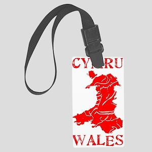 Large CYMRU WALES/ 100% WELSH Luggage Tag