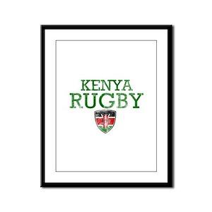 Kenya Rugby designs Framed Panel Print