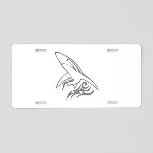 Shark Aluminum License Plate