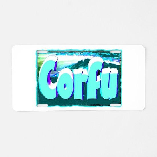 corful artwork illustration Aluminum License Plate