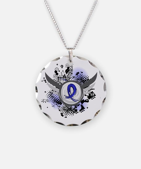Wings and Ribbon Child Abuse Necklace