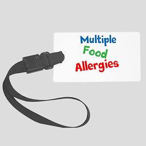 Multiple Food Allergies Large Luggage Tag