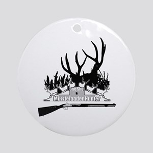 Muzzleloader Hunter Ornament (Round)