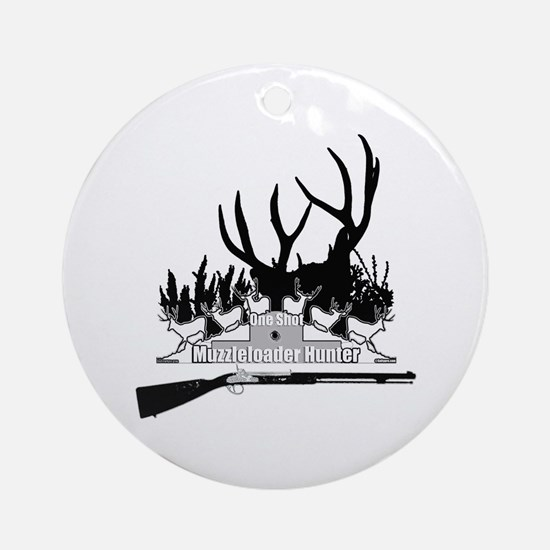 Muzzleloader Hunter Ornament (Round)
