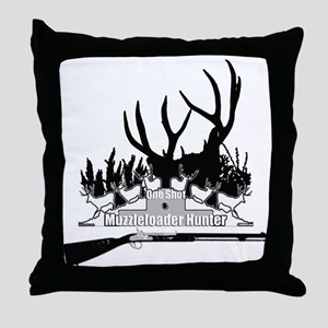 Muzzleloader Hunter Throw Pillow