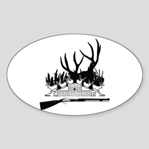 Muzzleloader Hunter Sticker (Oval)