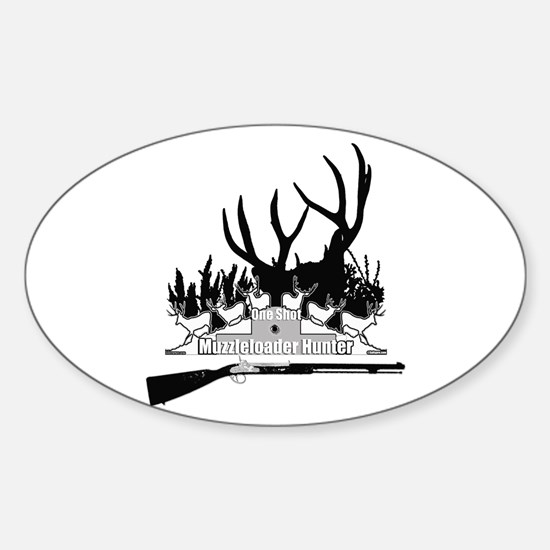 Muzzleloader Hunter Sticker (Oval)