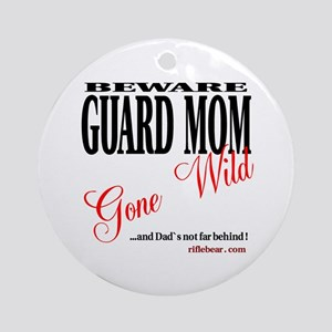 Beware guard mom Ornament (Round)