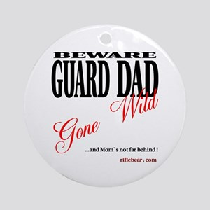 Beware of Dad Ornament (Round)