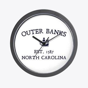 Outer Banks Established 1587 Wall Clock