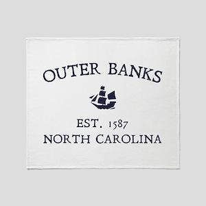 Outer Banks Established 1587 Throw Blanket