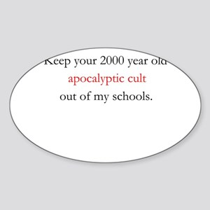 Apocalyptic Cult Sticker (Oval)