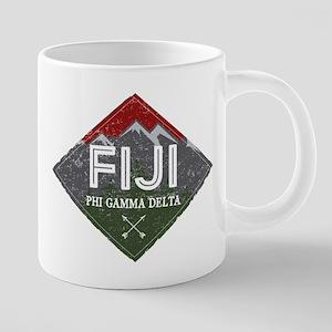 Phi Gamma Delta Mountains D 20 oz Ceramic Mega Mug
