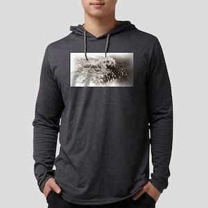Sepia Tiger Mens Hooded Shirt