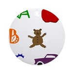 ABC Ornament (Round)