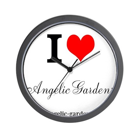 I <3 Angelic Gardens Wall Clock