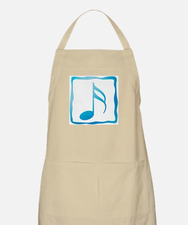 Blue Musical Note BBQ Apron