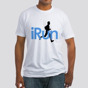 iRun in Blue Fitted T-Shirt