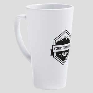 Phi Gamma Delta Mountains Ribbon P 17 oz Latte Mug