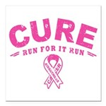 Cure - Run For It Run Square Car Magnet 3