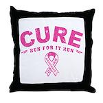 Cure - Run For It Run Throw Pillow