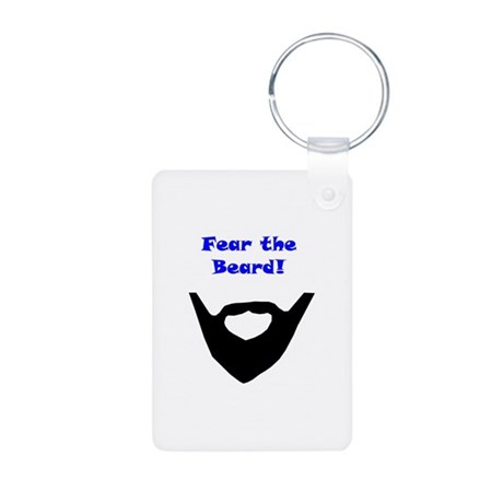 Fear the Beard 1 Aluminum Photo Keychain