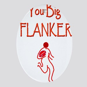 Rugby Big Flanker 6000 Ornament (Oval)