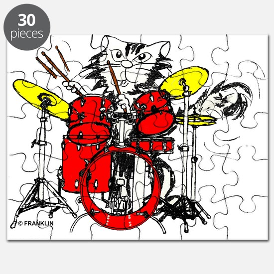 DRUM WILD IN COL TRANS BLK CPYRTE.psd Puzzle